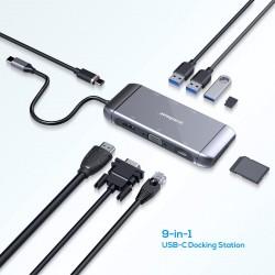STATION D'ACCUEIL MBEAT ELITE X9 9EN1 USB-C PD, HDMI, VGA , 3xUSB3.3