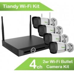 CAMERA DE SECURITE TIANDY 2MP IR BULLET WIFI KIT DE 4 CAMERAS