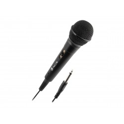 MICROPHONE NGS SINGERFIRE - Micro filaire prise jack 6,3mm - cable 3m - noir