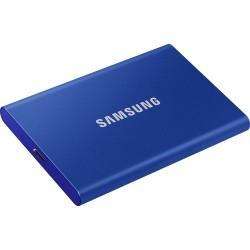 DISQUE DUR Samsung SSD T7 - Externe - 500 Go - PCI Express NVMe - Bleu Indigo - USB 3.2 - TYPE C