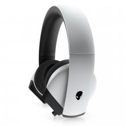 CASQUE GAMING Alienware 510H Lunar Light filaire Microphone rétractable Son Surround 7.1 Blanc/Noir