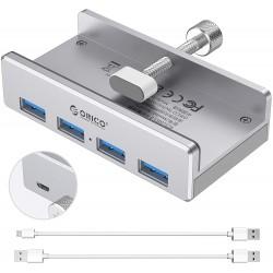 HUB ORICO 4 PORTS USB 3.0 ALIMENTE ALUMINIUM ORICO-MH4PU-SV