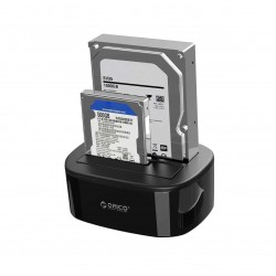 """Station d'Accueil ORICO USB 3.0 Clonage Hors Ligne Dual-baie pour 2 Disques Durs HDD/SSD 2.5/3.5"""", SATA,"""