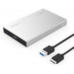 "Boitier Disqu dur Externe ORICO Aluminium USB 3.0 2.5"" SATA  7mm/9.5mm SATA et SSD"