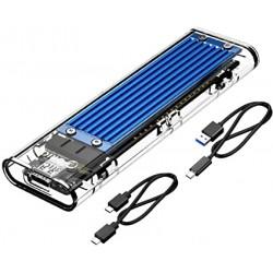 Boîtier Externe ORICO SSD M.2 USB-C USB3.1 Gen2 10Gbps Transparent PCI-E M2 M-Key SSD,USB Type C