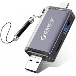 LECTEUR DE CARTE ORICO 6en1 TYPE-C, MICRO USB, USB 3.0, TF, SD