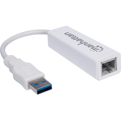 ADAPTATEUR RESEAU MANHATTAN RJ45 / USB 3.0 SUPERSPEED 10/100/1000 MBPS