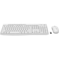 KIT Clavier-Souris Logitech MK295 - USB Sans fil RF - Blanc cassé