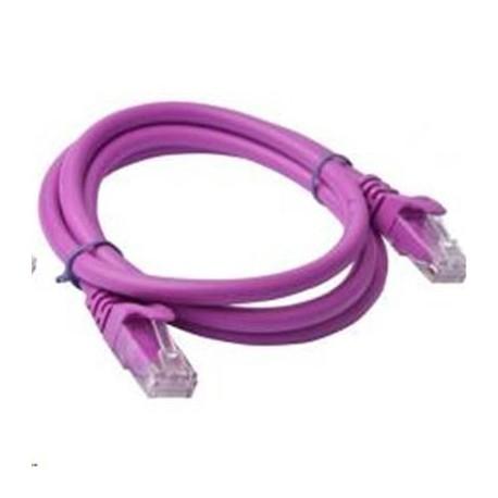 CABLE 8WARE RJ45 Cat5e UTP Ethernet Cable 0.5M (50cm) PURPLE