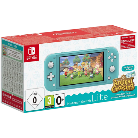 CONSOLE NINTENDO SWITCH LITE TURQUOISE + ANIMAL CROSSING NEW HORIZONS