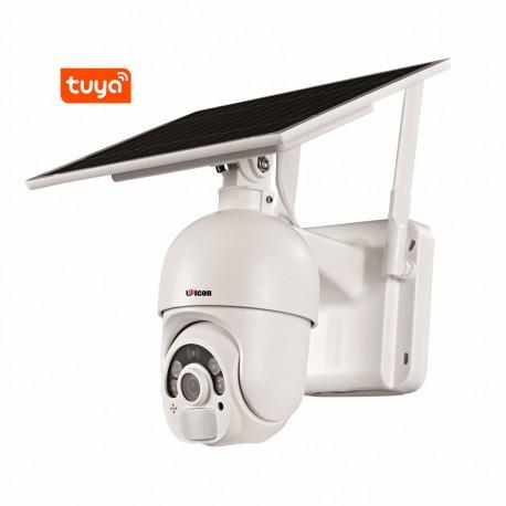 CAMERA TUYA UN-SPT2201 SOLAIRE WIFI 1080p VISION NOCTURNE ET AUDIO BIDIRECTIONNELLE