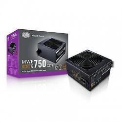ALIMENTATION PC COOLERMASTER MASTERWATT 80+ BRONZE, 750W, SEMI-MODULAR CABLE, 120MM SILENCIO FP FAN